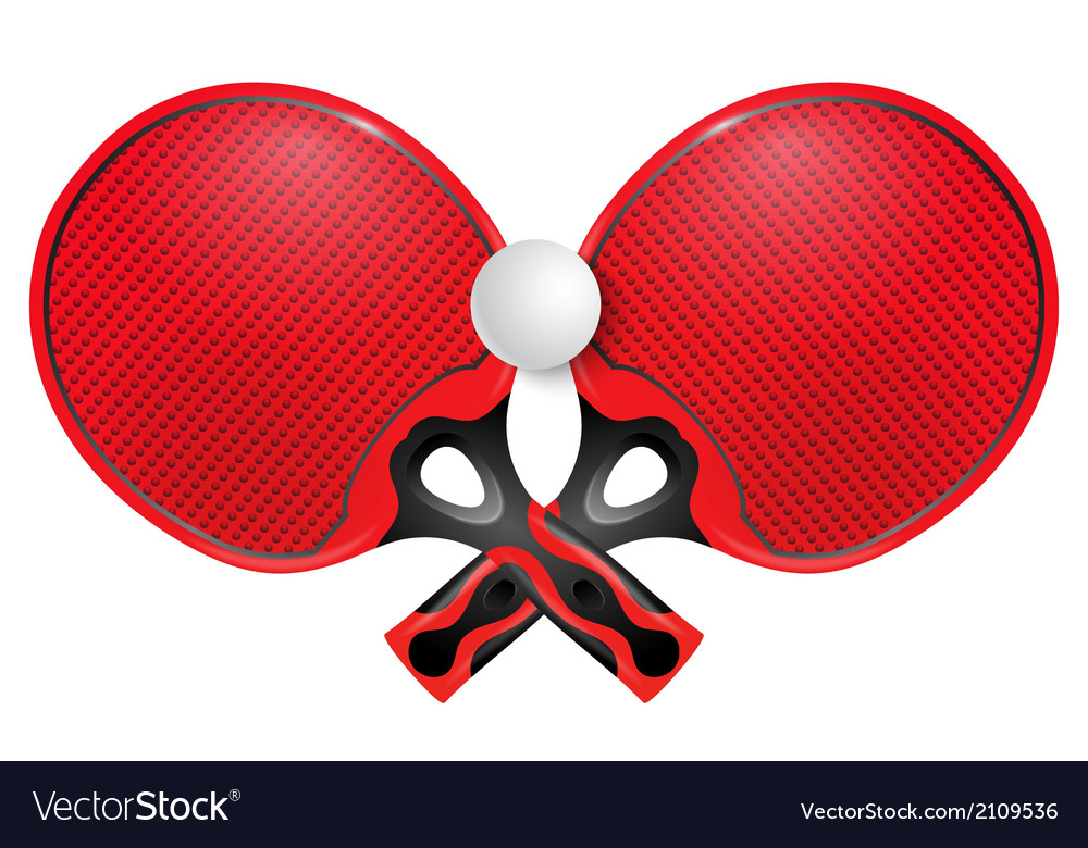 Two professional racket for table tennis vector | Price: 1 Credit (USD $1)