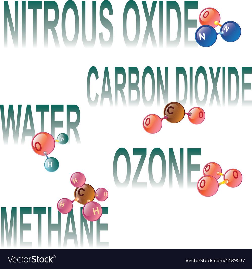 Greenhouse gas molecules vector | Price: 1 Credit (USD $1)