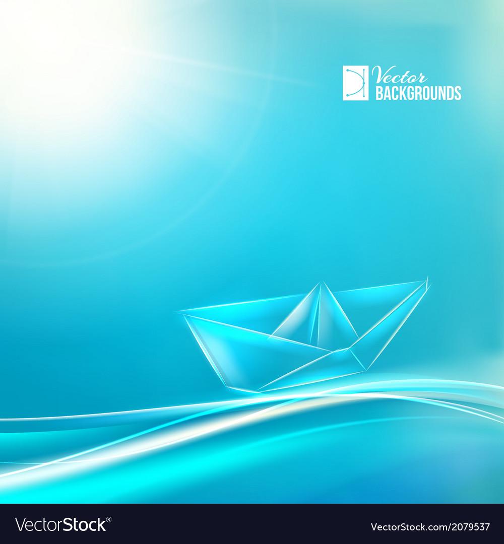 Paper ship origami vector   Price: 1 Credit (USD $1)