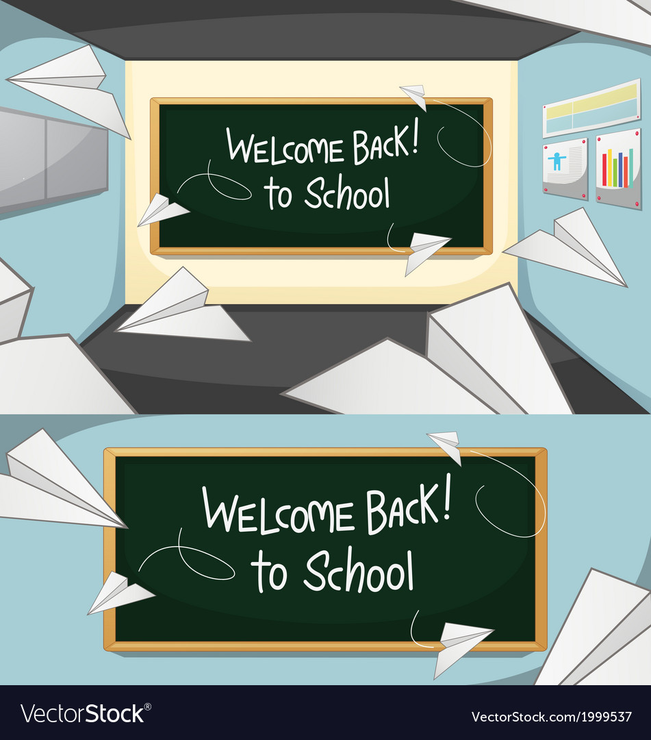 Welcome-back-to-school vector | Price: 1 Credit (USD $1)