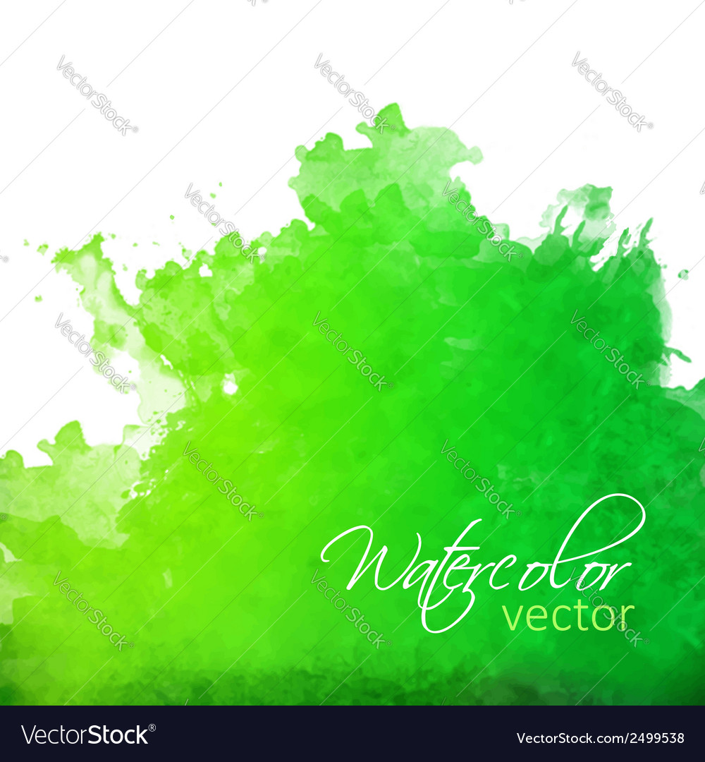 Abstract green watercolor splash vector | Price: 1 Credit (USD $1)