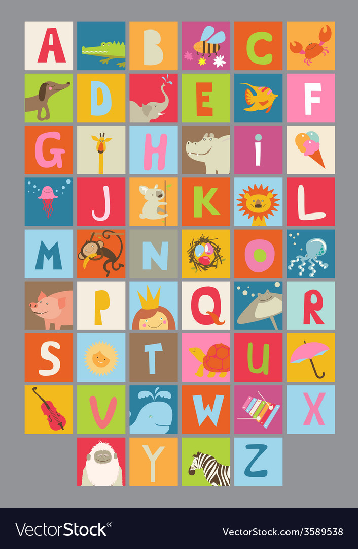 Alphabet for kids vector | Price: 1 Credit (USD $1)
