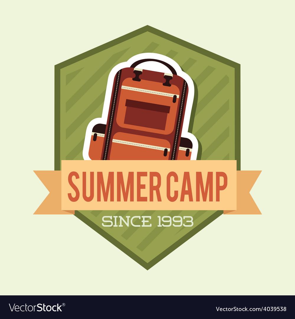 Camping adventure vector | Price: 1 Credit (USD $1)