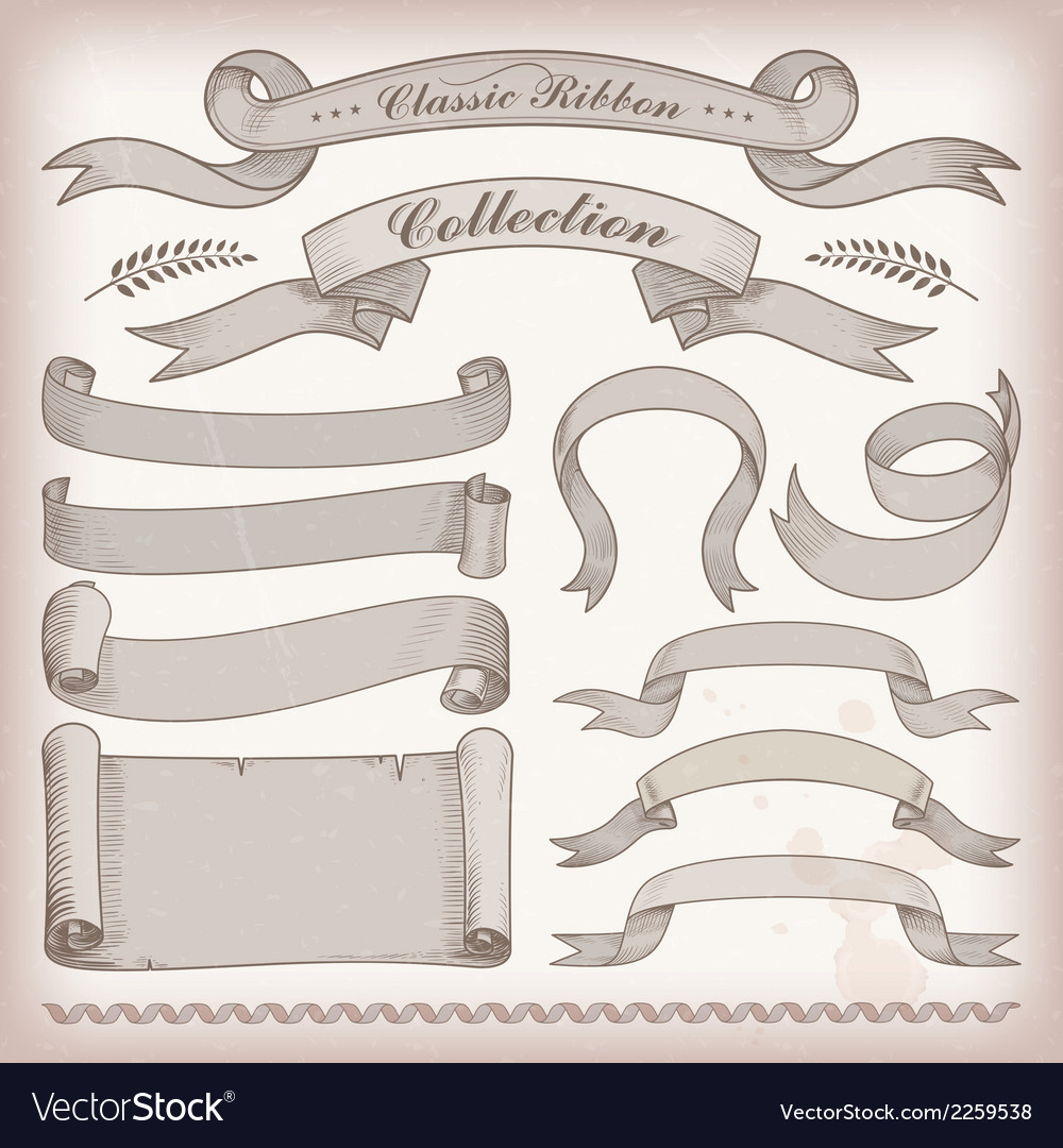 Classic ribbons vector | Price: 1 Credit (USD $1)