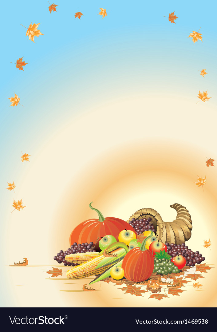 Composition for thanksgiving halloween invitation vector | Price: 1 Credit (USD $1)