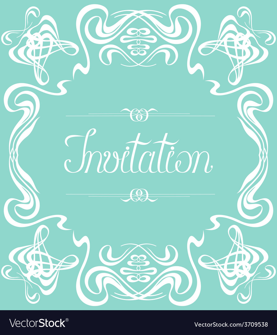 Flourishes frame invitation vector | Price: 1 Credit (USD $1)