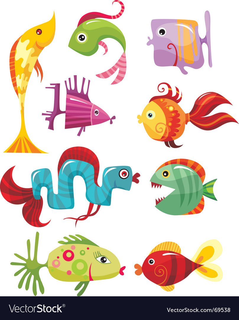 Funky fish vector | Price: 1 Credit (USD $1)
