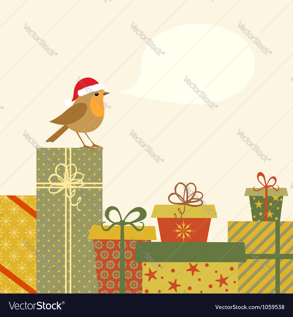 Gifts and robin vector | Price: 1 Credit (USD $1)