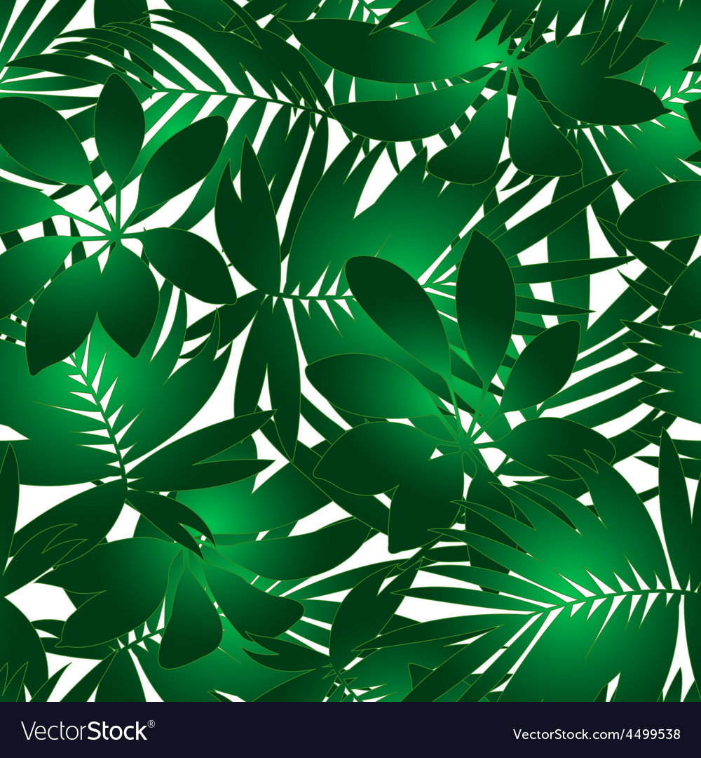 Green tropical pattern vector | Price: 1 Credit (USD $1)