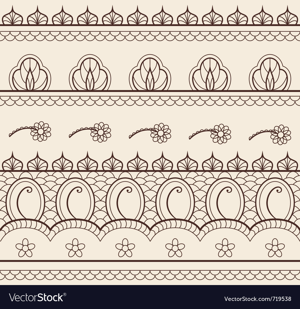 Indian henna ornament seamless vector | Price: 1 Credit (USD $1)