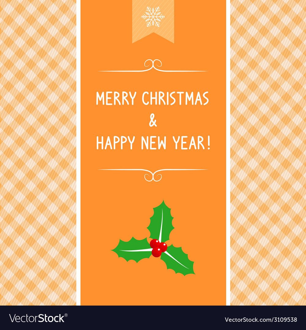 Mc and hny greeting card5 vector | Price: 1 Credit (USD $1)