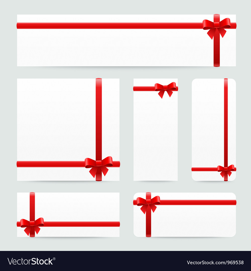 Red bows and ribbons set vector | Price: 1 Credit (USD $1)