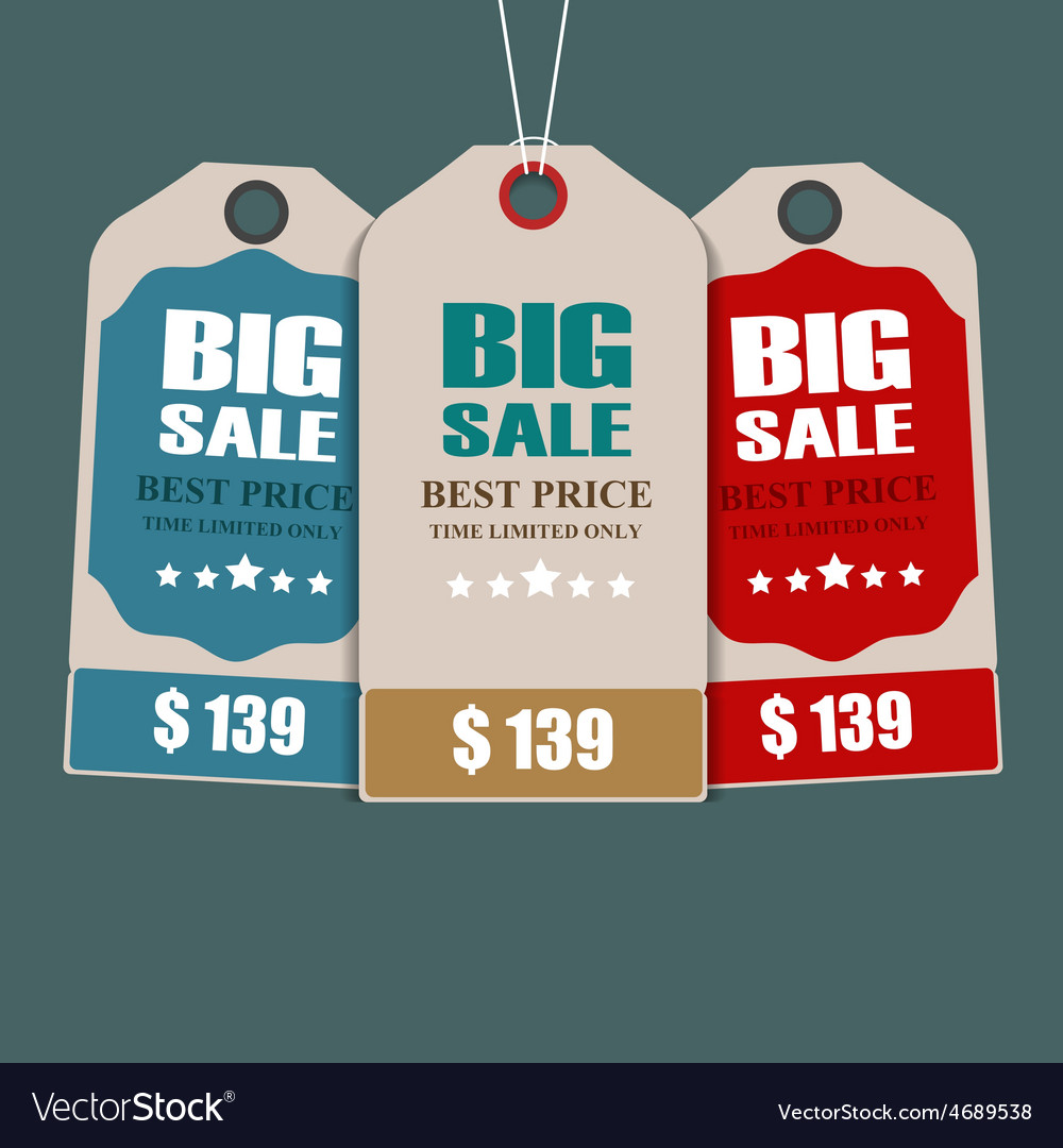 Sale tags vector   Price: 1 Credit (USD $1)