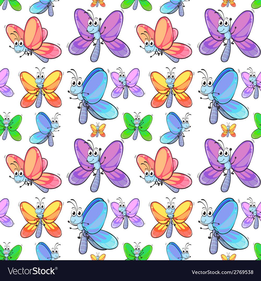 Seamless butterflies vector   Price: 1 Credit (USD $1)