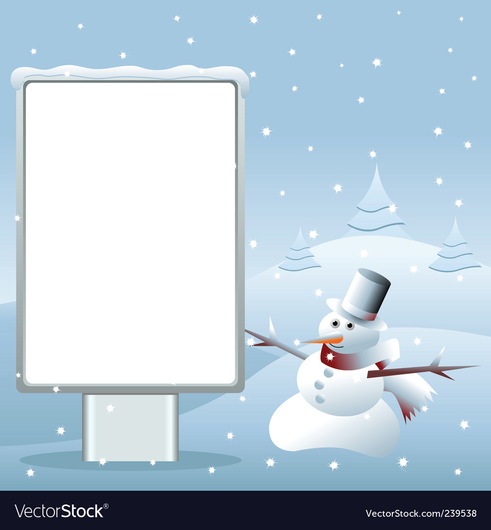 Snowman advertising vector | Price: 1 Credit (USD $1)