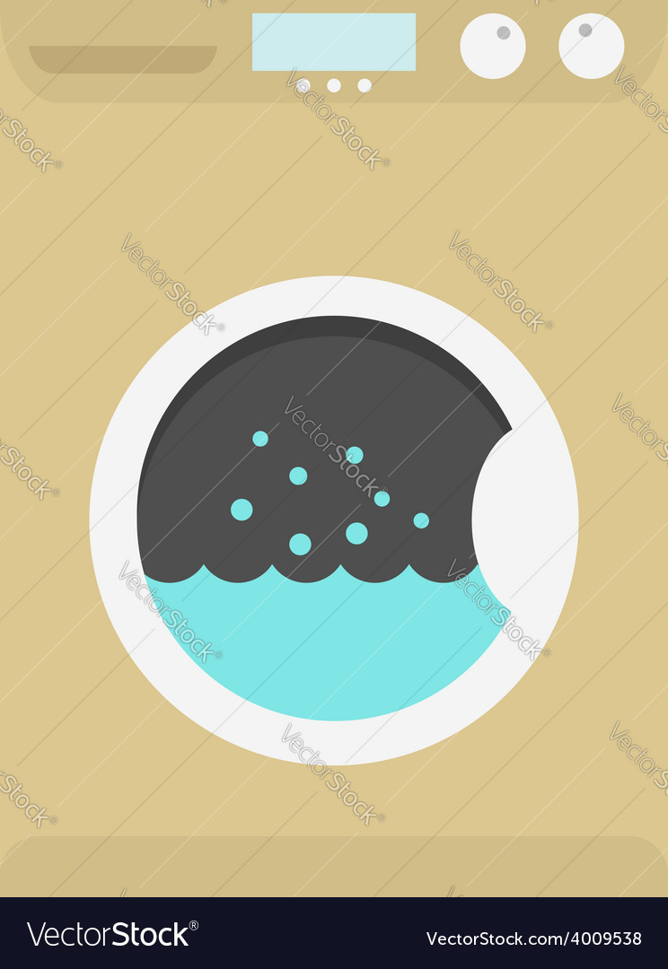 Washing machine icon vector | Price: 1 Credit (USD $1)