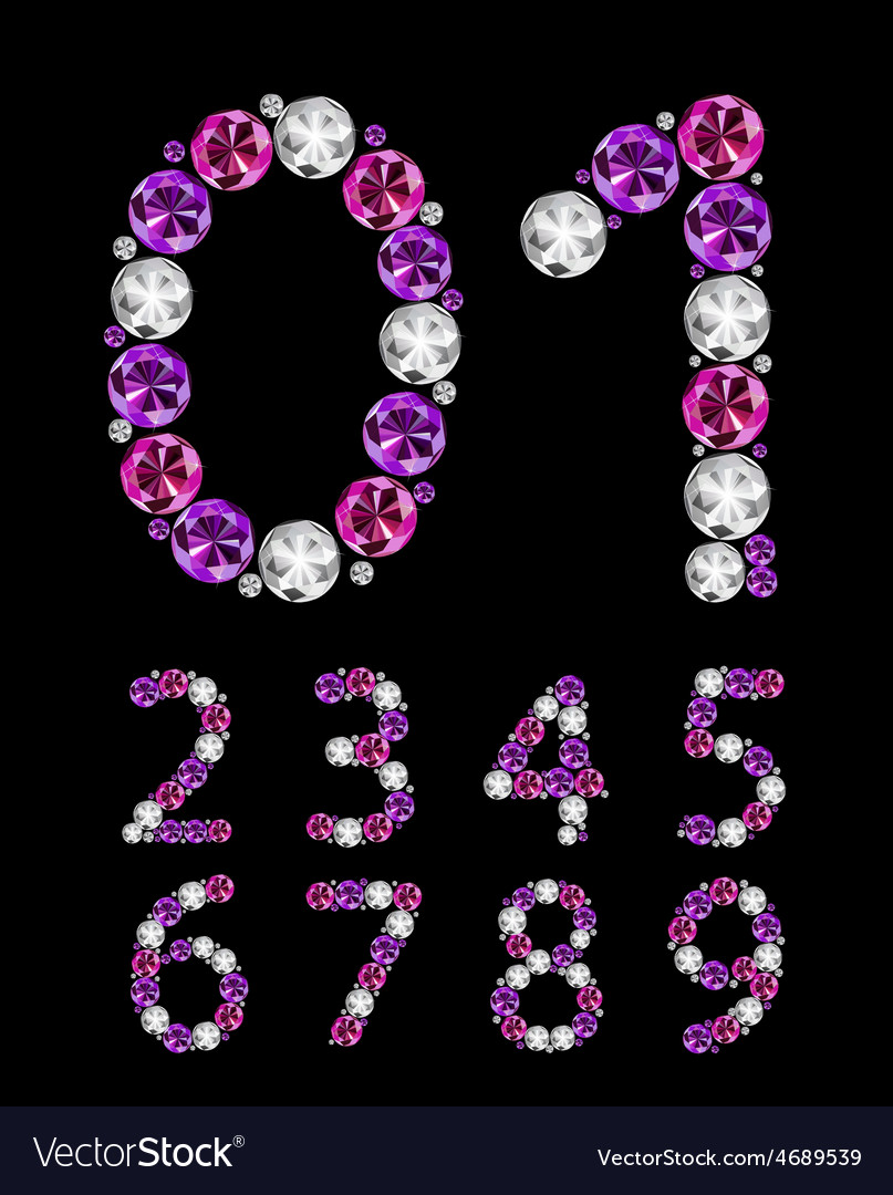 Abstract luxury diamond numbers vector | Price: 1 Credit (USD $1)