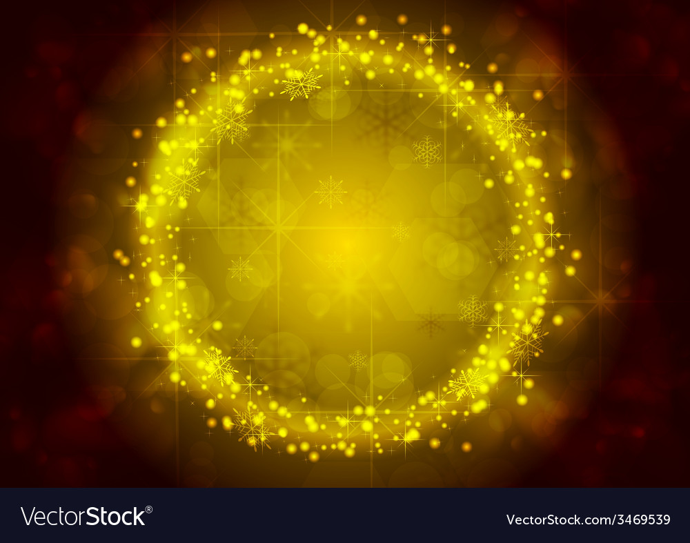 Bright yellow christmas sparkling background vector | Price: 1 Credit (USD $1)