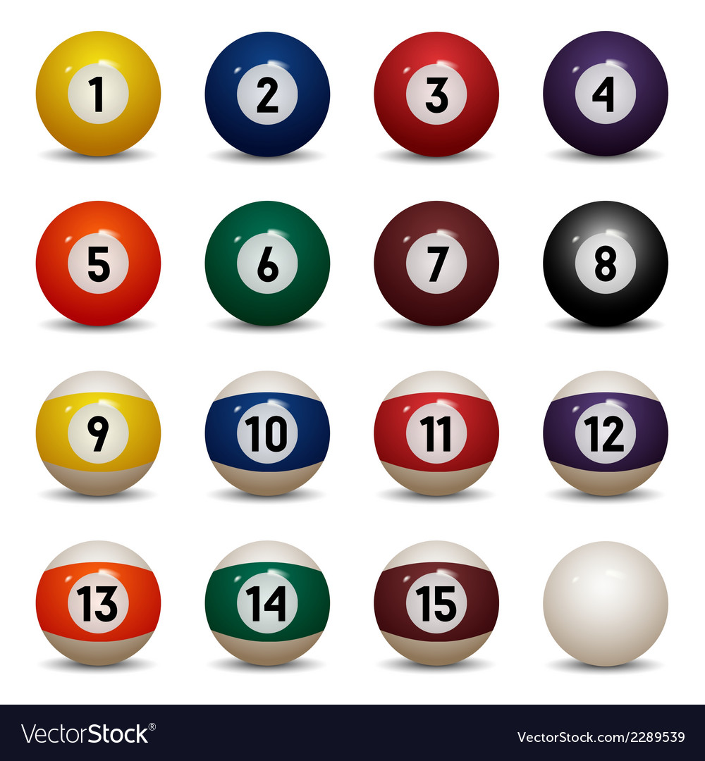Colored pool balls vector | Price: 1 Credit (USD $1)