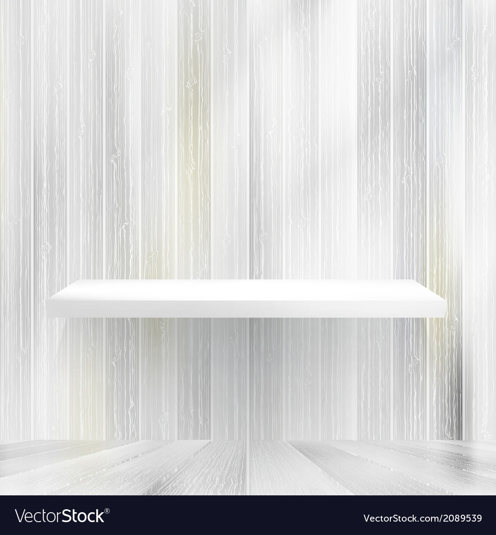 Layers blank white wooden bookshelf  eps10 vector | Price: 1 Credit (USD $1)
