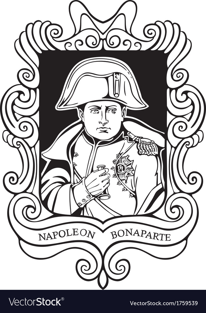 Portrait of napoleon bonaparte vector | Price: 1 Credit (USD $1)