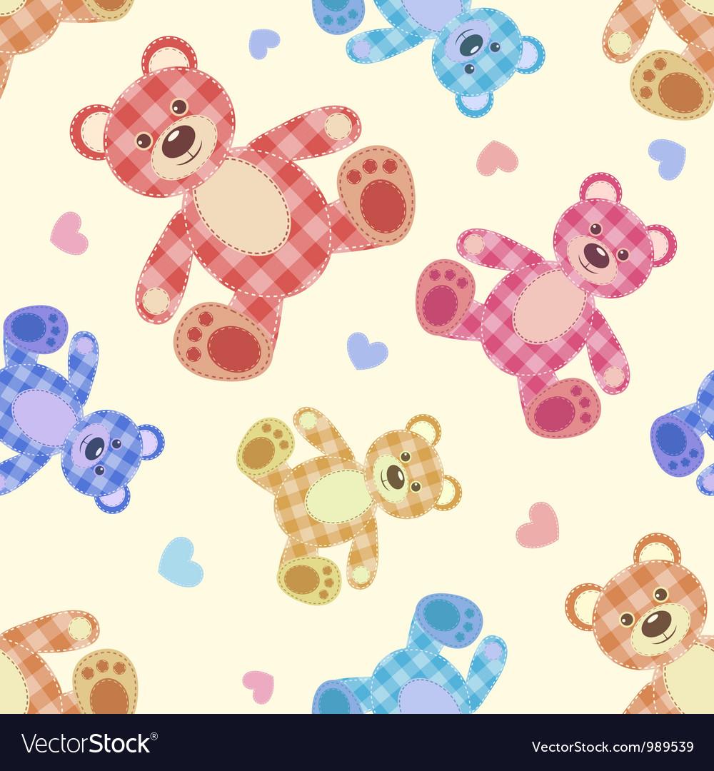 Seamless bear light patchwork pattern vector | Price: 1 Credit (USD $1)