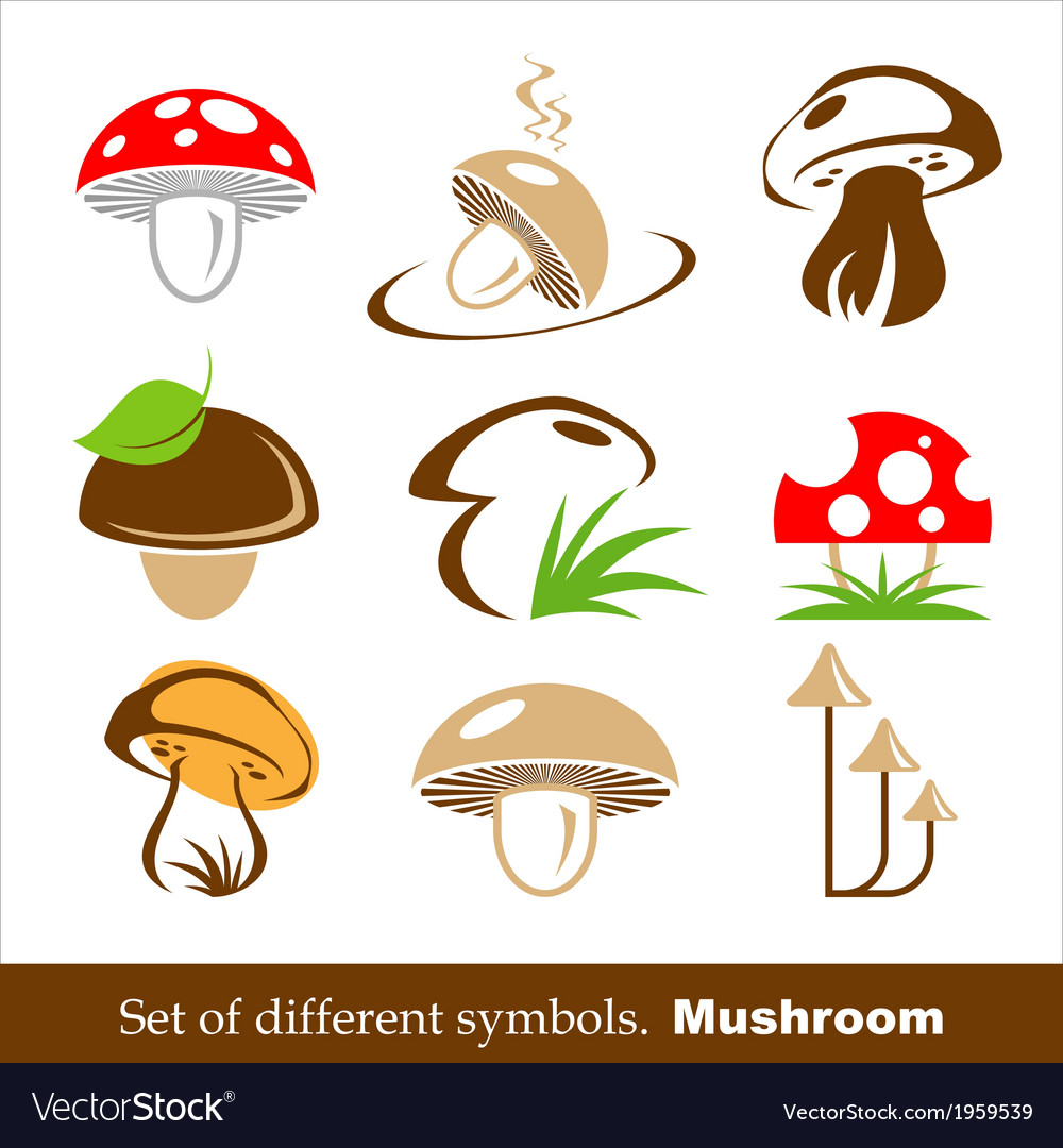 Symbols mushroom vector | Price: 1 Credit (USD $1)