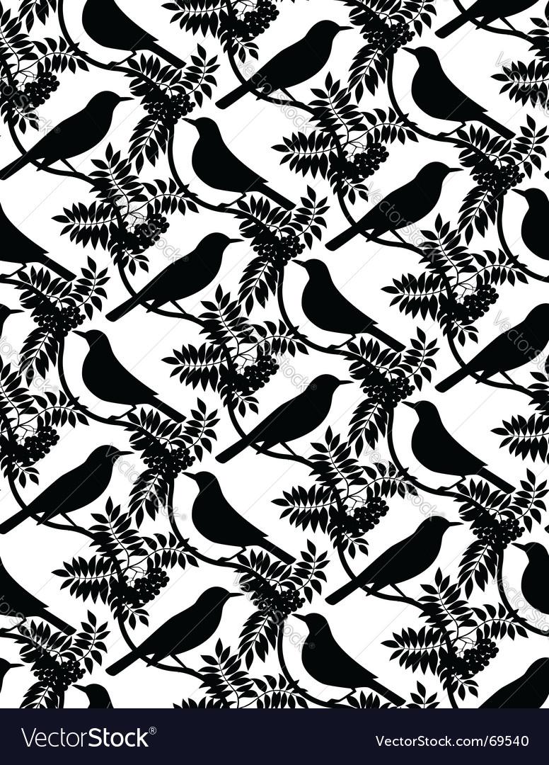 Birds seamless pattern vector   Price: 1 Credit (USD $1)