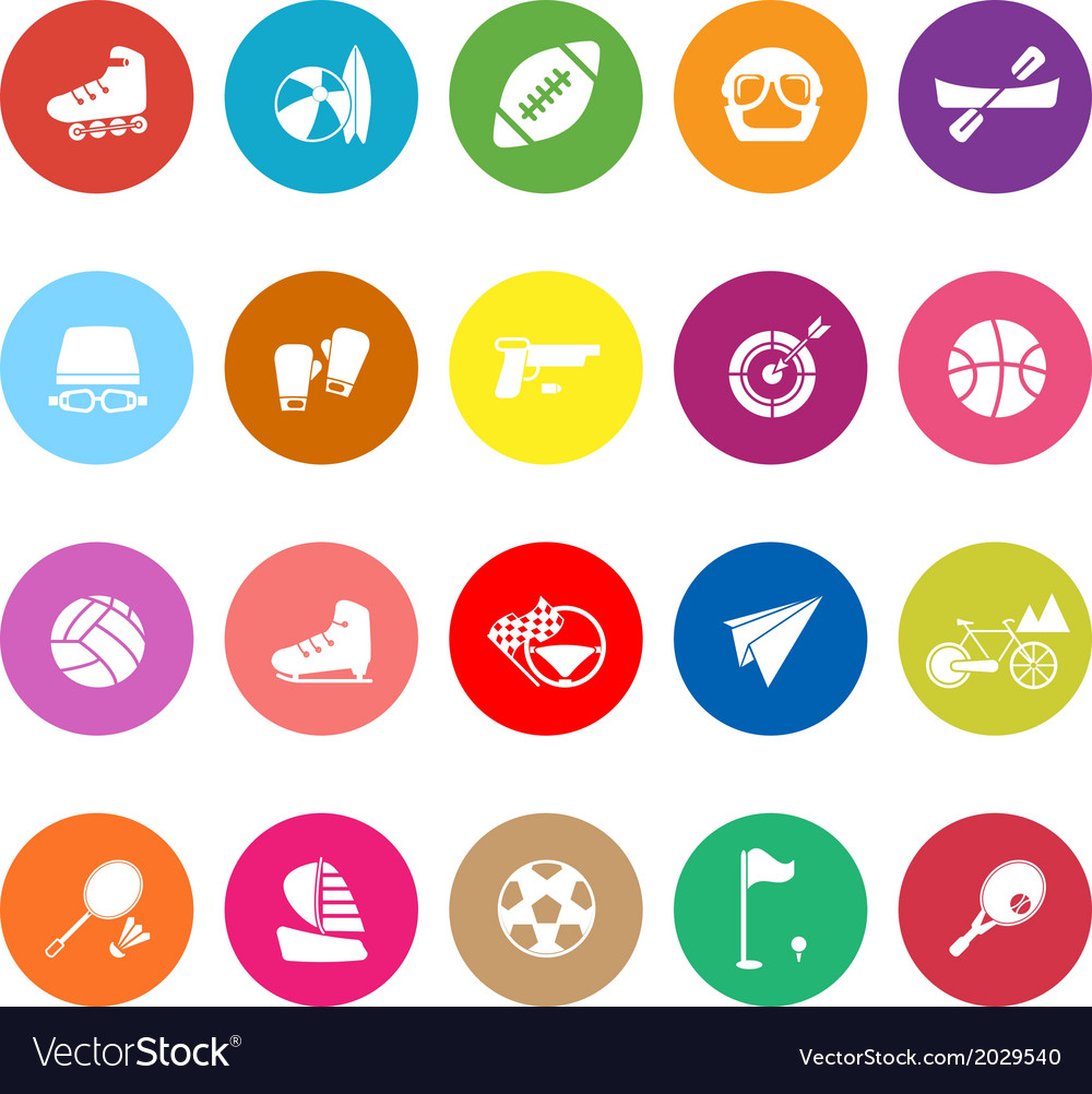 Extreme sport flat icons on white background vector | Price: 1 Credit (USD $1)