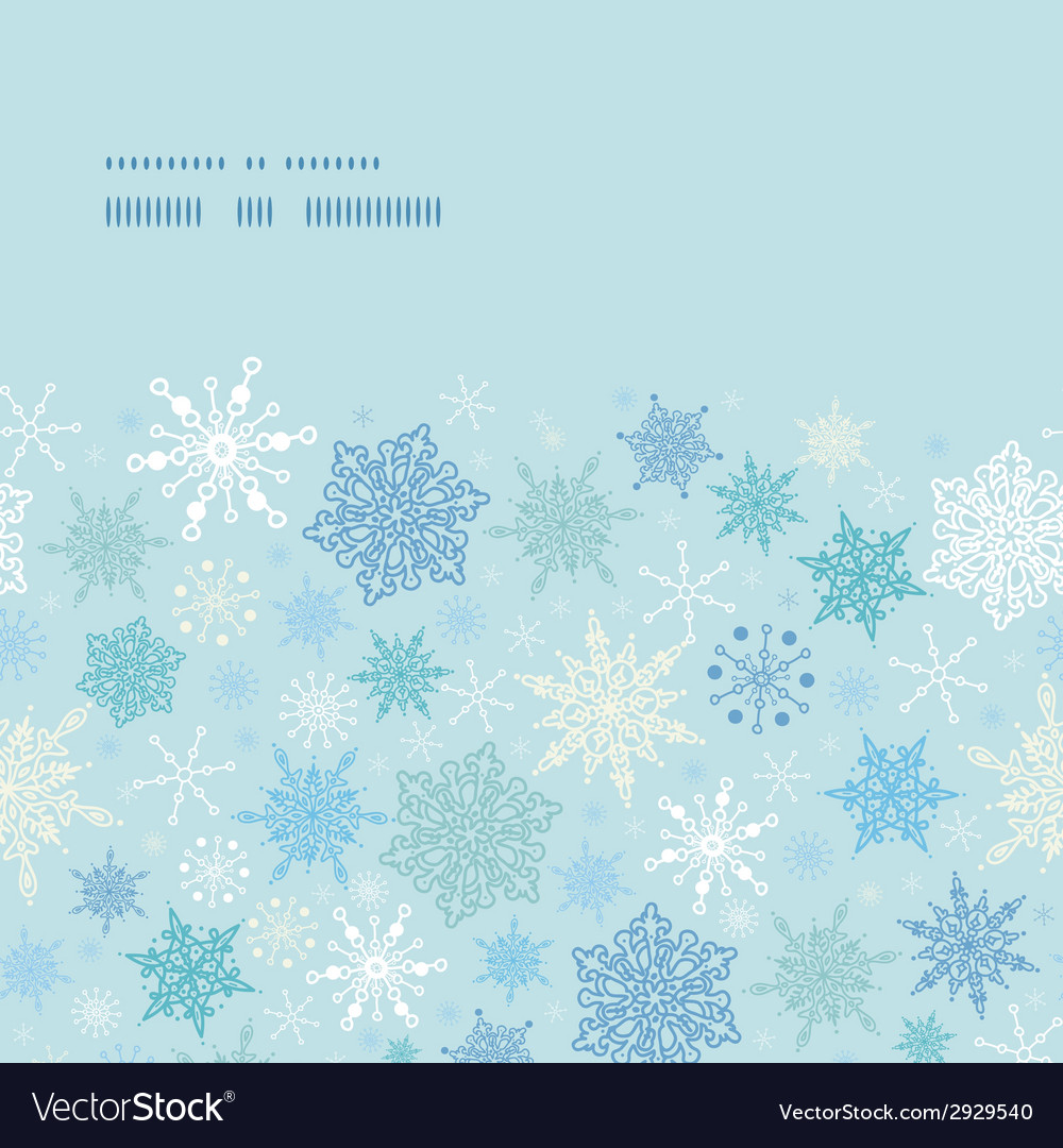 Falling snow horizontal frame seamless pattern vector | Price: 1 Credit (USD $1)