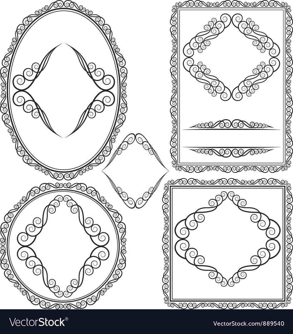 Frames - square oval rectangular circular vector   Price: 1 Credit (USD $1)