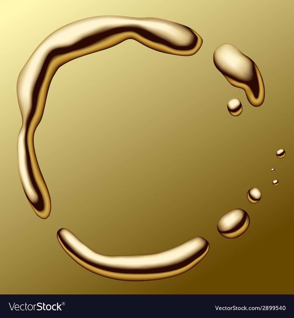 Molten gold frame vector | Price: 1 Credit (USD $1)