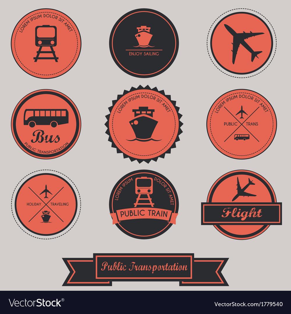 Public transportation label design vector | Price: 1 Credit (USD $1)