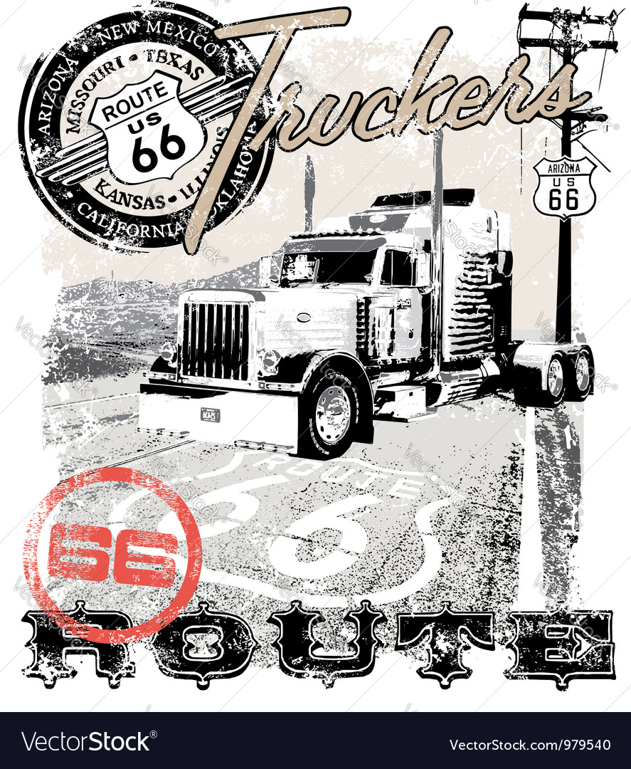 Truck route66 arizona vector | Price: 1 Credit (USD $1)