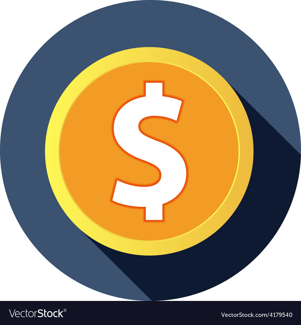 Us flat icon long shadow vector   Price: 1 Credit (USD $1)