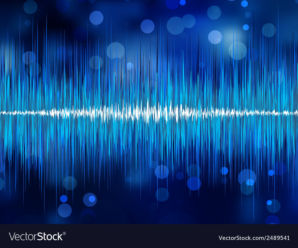 Abstract bokeh waveform eps 8 vector | Price: 1 Credit (USD $1)