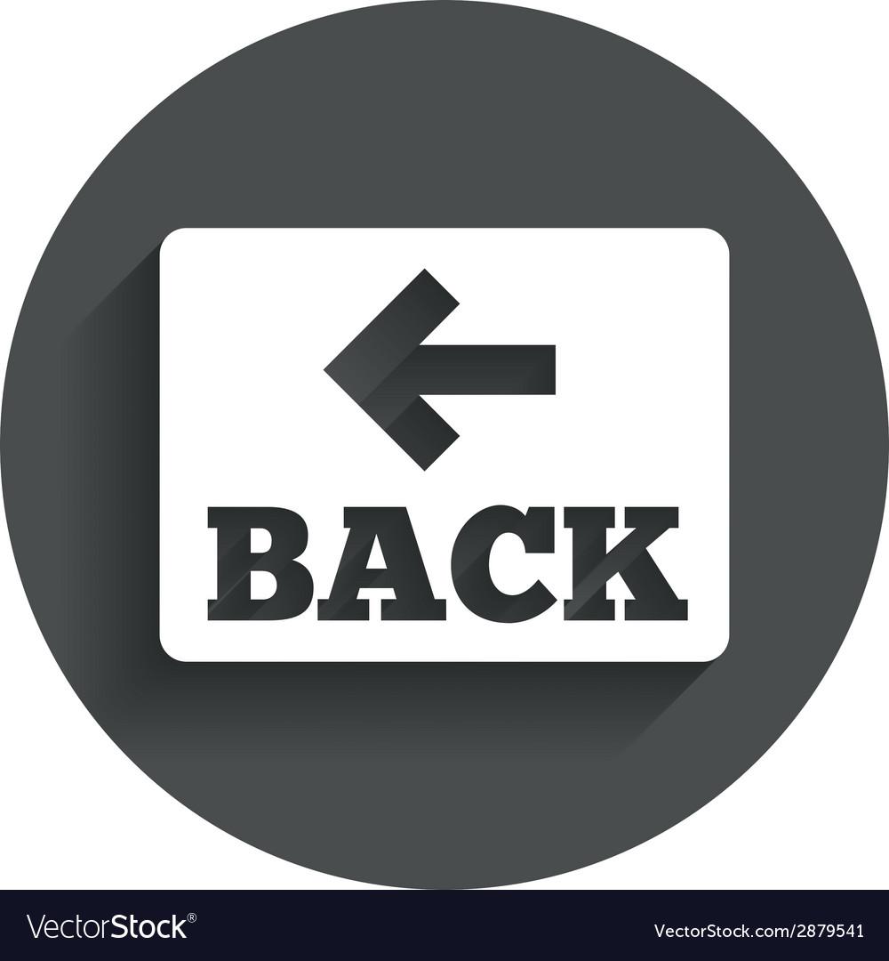 Arrow sign icon back button navigation symbol vector   Price: 1 Credit (USD $1)