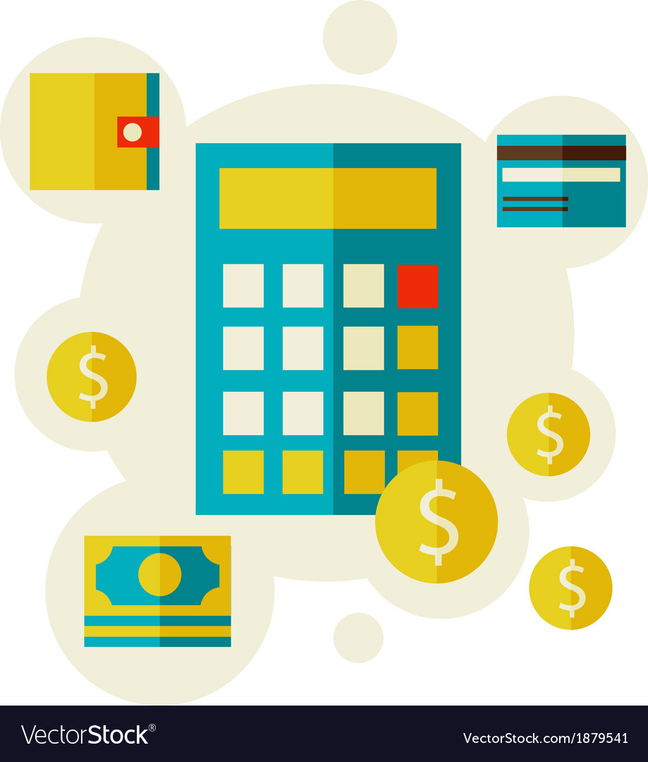 Calculator and money vector | Price: 1 Credit (USD $1)