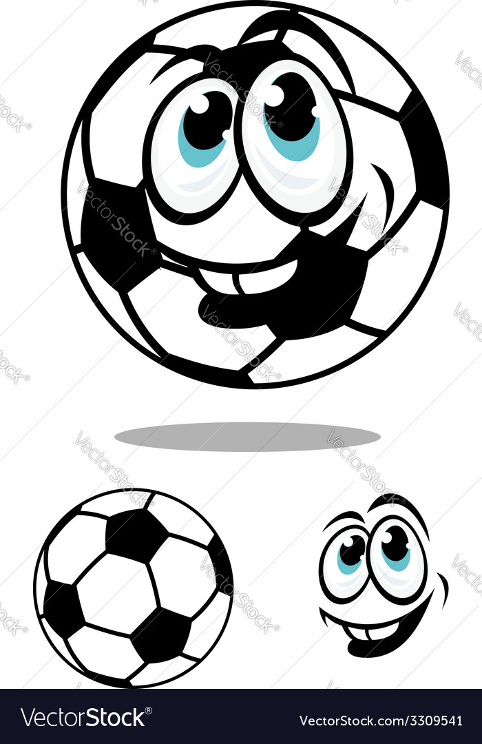Cartoon soccer or football ball charcter vector | Price: 1 Credit (USD $1)