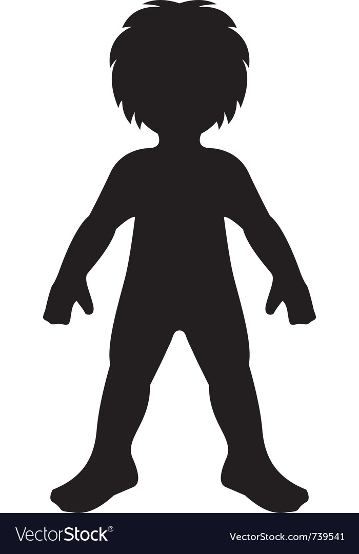Child silhouette vector | Price: 1 Credit (USD $1)