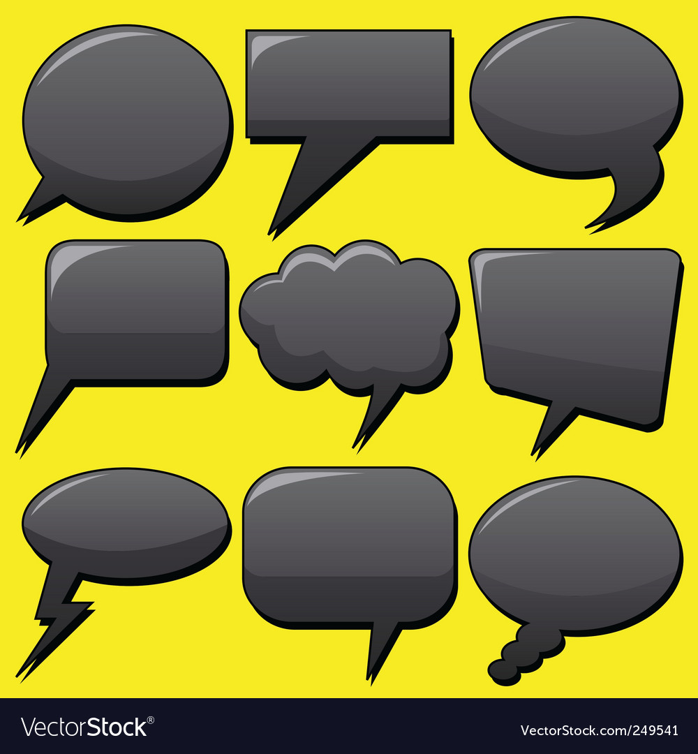 Dialog bubbles vector | Price: 1 Credit (USD $1)