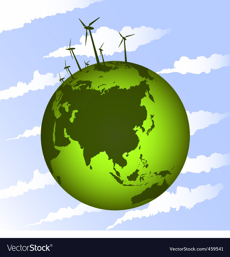 Eco wind mills vector | Price: 1 Credit (USD $1)