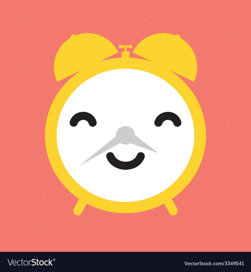 Happy alarm clock vector | Price: 1 Credit (USD $1)