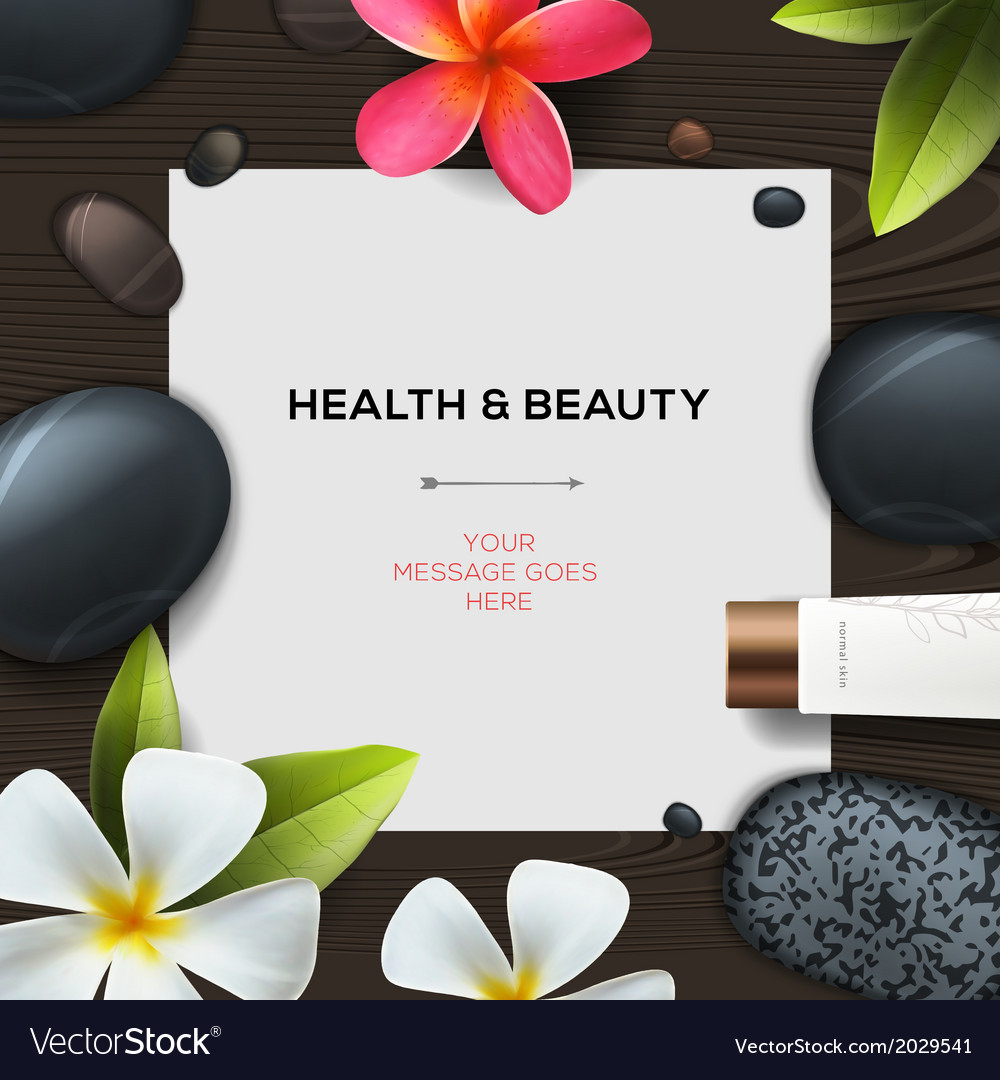 Health and beauty template vector | Price: 1 Credit (USD $1)