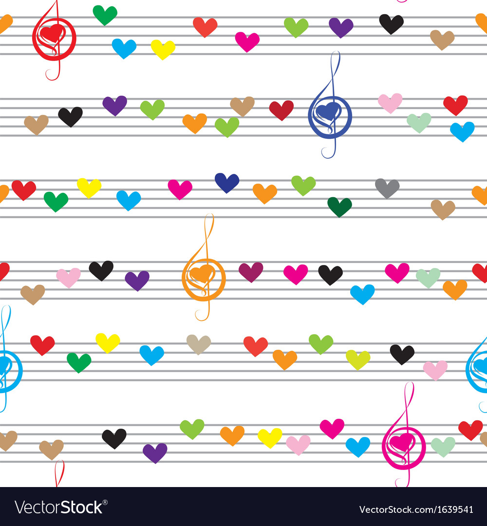 Music heart note sound love texture vector | Price: 1 Credit (USD $1)
