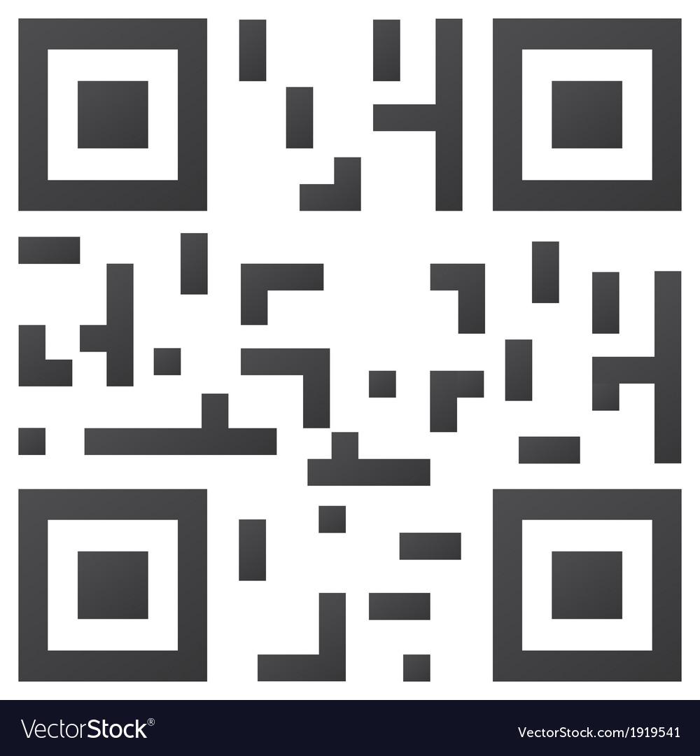 Sample qr code ready to scan vector | Price: 1 Credit (USD $1)