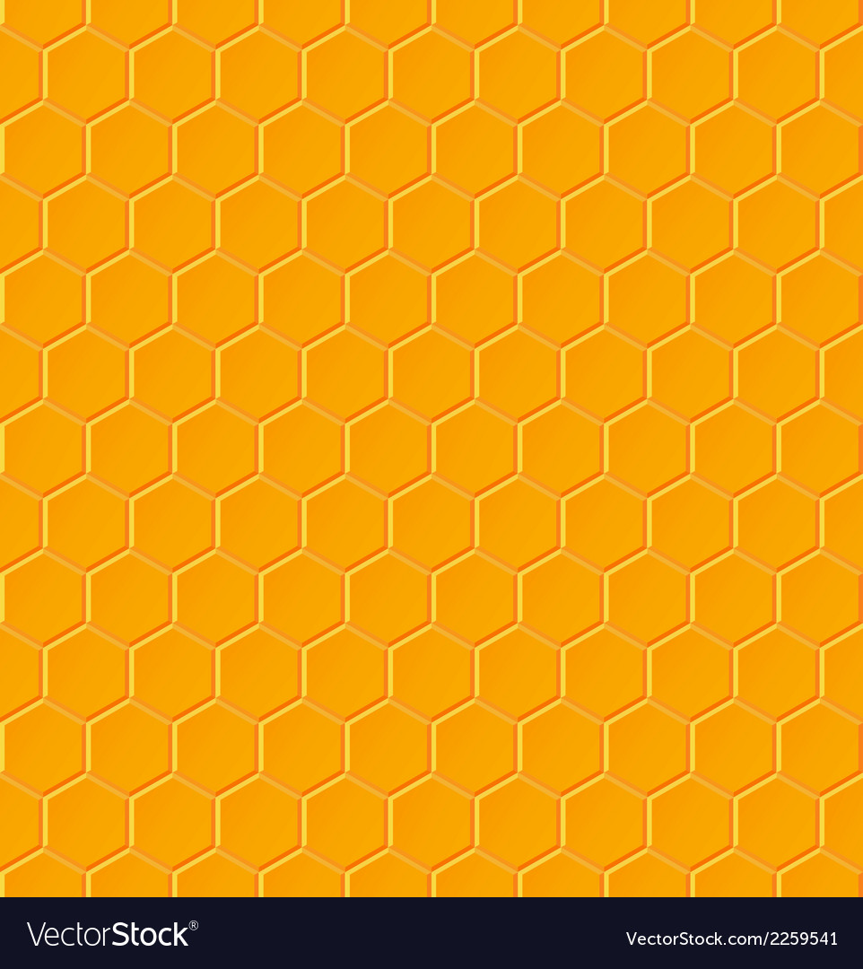 Seamless geometric pattern with honeycombs vector | Price: 1 Credit (USD $1)