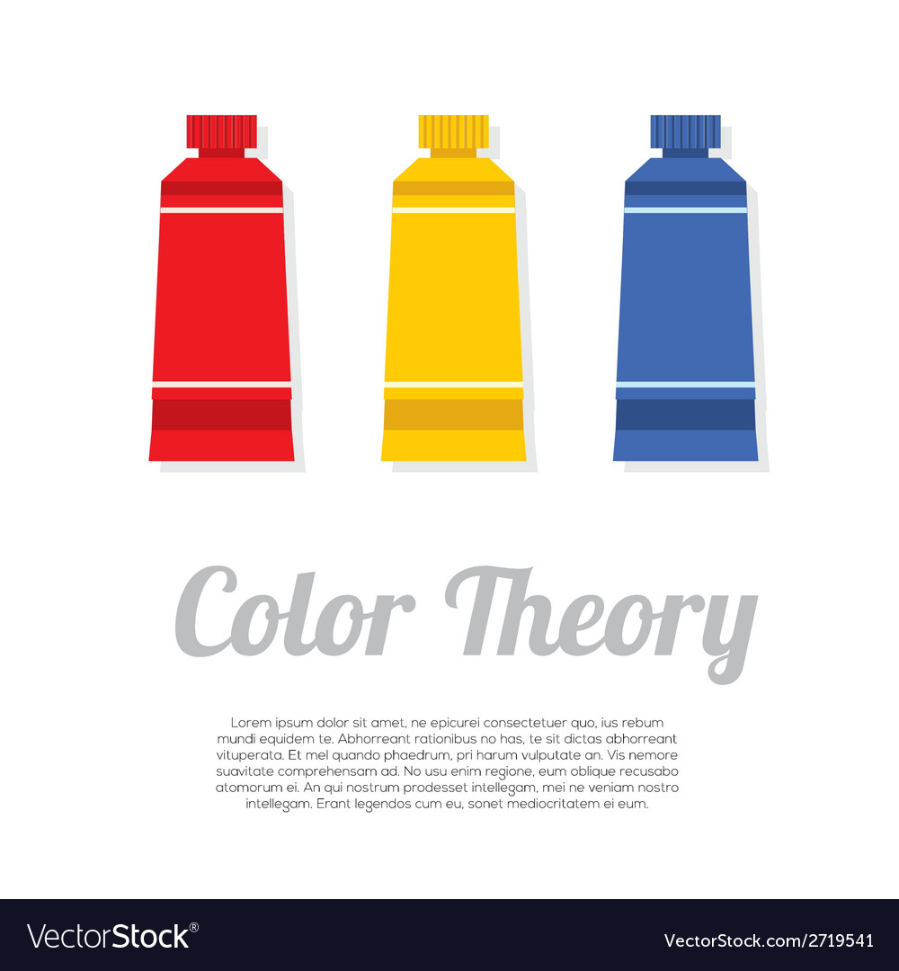Set of primary color tubes vector | Price: 1 Credit (USD $1)