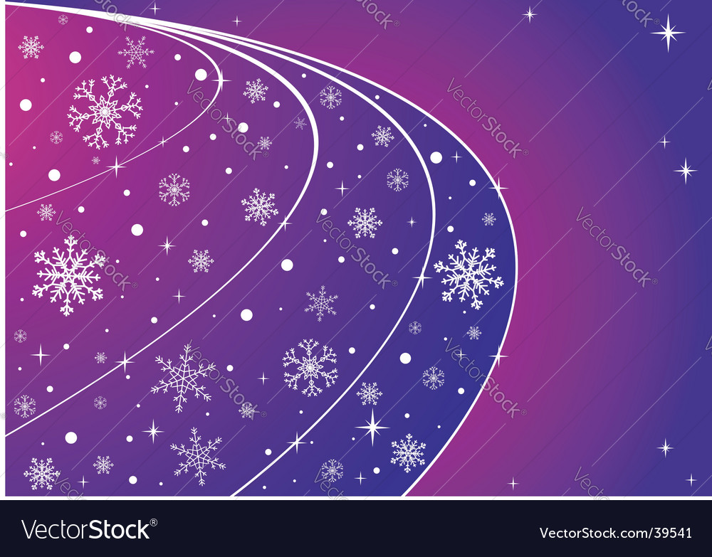 Sky with snowflakes and stars vector | Price: 1 Credit (USD $1)