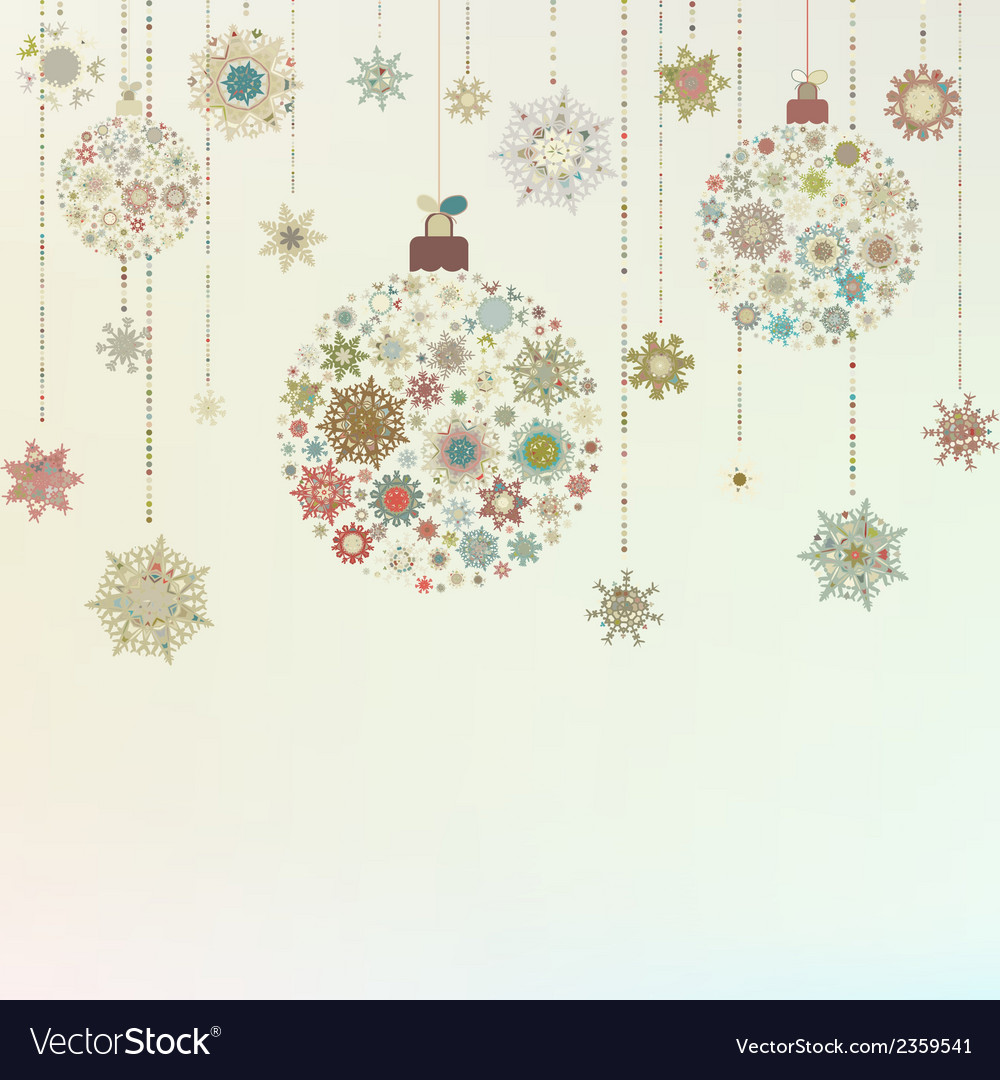 Stylized christmas balls on beige eps 8 vector | Price: 1 Credit (USD $1)